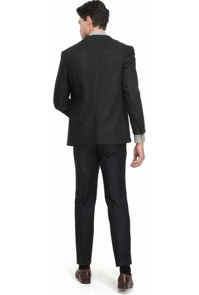 Tailor Made Slim Fit Yeşil Takim Elbise