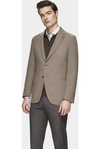 Damat Regular Fit Bej Kumaş Ceket
