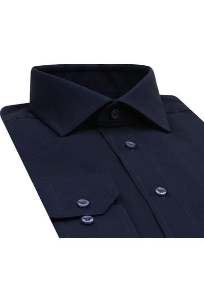 D'S Damat Regular Fit Lacivert Gömlek