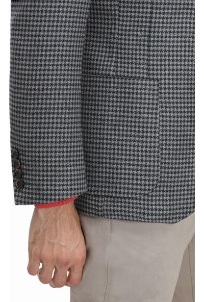 D'S Damat Slim Fit Vizon Kumaş Ceket