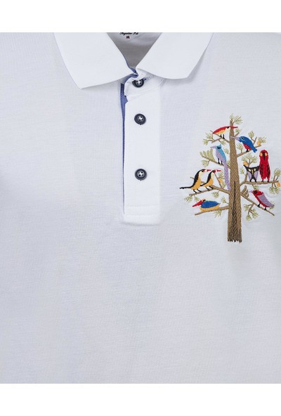 D'S Damat Regular Fit Beyaz T-Shirt