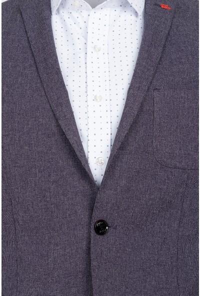 Tween Slim Fit Mor Kumaş Ceket