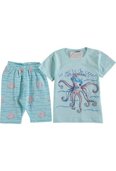 Kidsmadamiko Kız Çocuk Yazlık Kapri Pijama 296840
