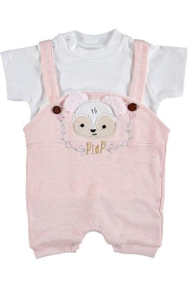Happy Baby Kız Bebek Tulum Tişörtlü Pembe 294927