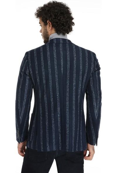 D'S Damat Slim Fit Lacivert Kumaş Ceket