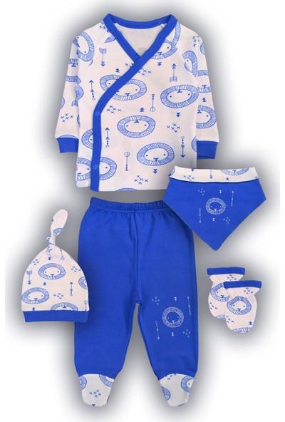 By Leyal For Kids Erkek Bebek 5'li Aslan Detaylı Set-4444