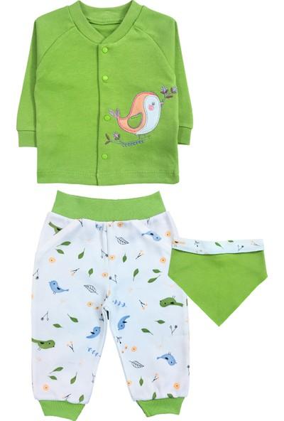 By Leyal For Kids Erkek Bebek Aslan Detaylı 2Li Tulum Ve Şapka Set-4436