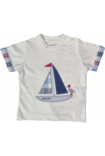 Twetoon Ahoy Kareli Şortlu Erkek Bebek Takım