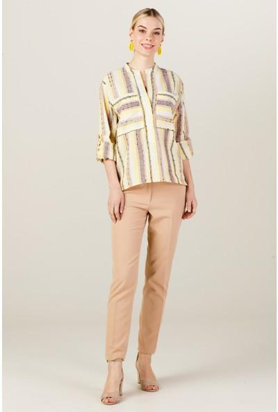 Ekol 2 Cep Detaylı Bluz