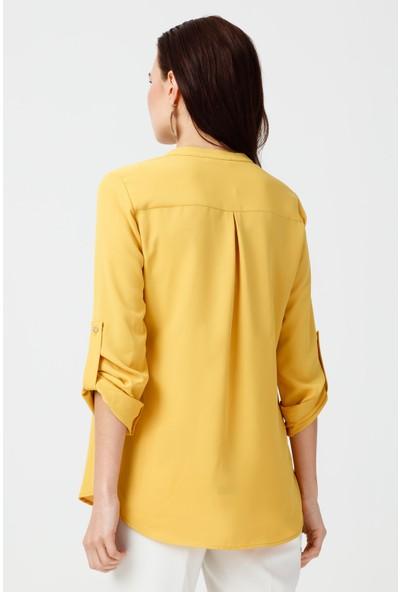 Ekol Çizgi Cep Bluz