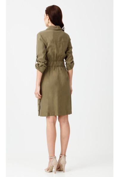 Ekol Kemerli Elbise