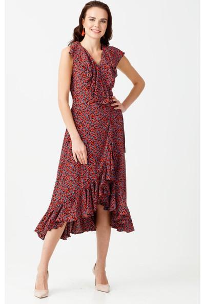 Ekol Volanlı Elbise
