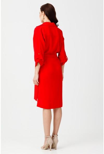Ekol Yırtmaçlı Elbise