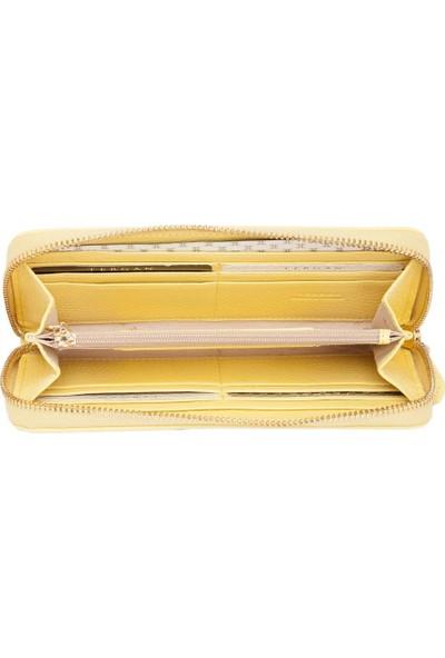 Tergan Sarı Deri Kadın Cüzdanı 05777E96