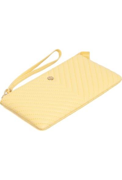 Tergan Sarı Deri Kadın Cüzdanı 05792L1H