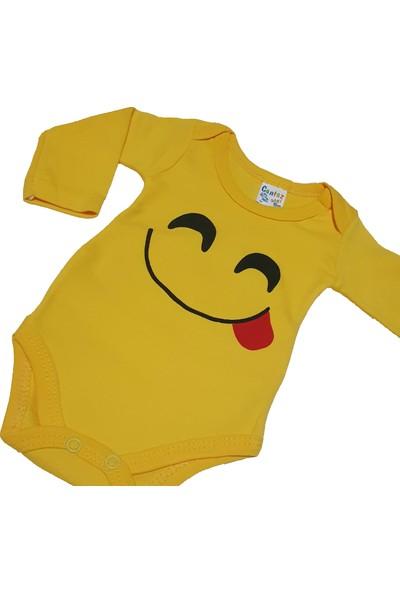 Cantaz Baby 74478 Emoji Baskılı Sarı Badi 9 Ay