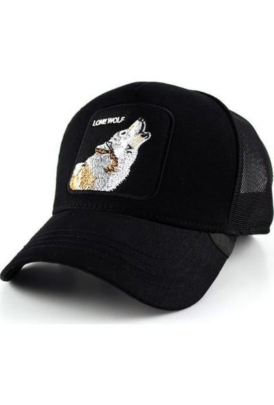 TEET Hayvan Figürlü Animal Farm Şapka Kurt Lone Wolf Resimli Cap