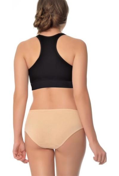 Özten Özten 205 3'lü Paket Pamuk Ribana Kadın Bikini Külot