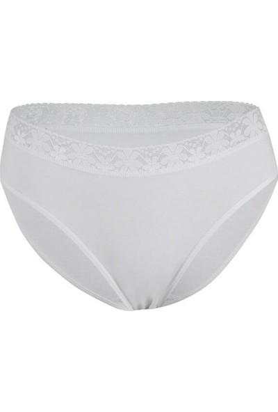 Özten Özten 206 3'lü Paket Beli Dantelli Koton Kadın Likralı Bikini Külot