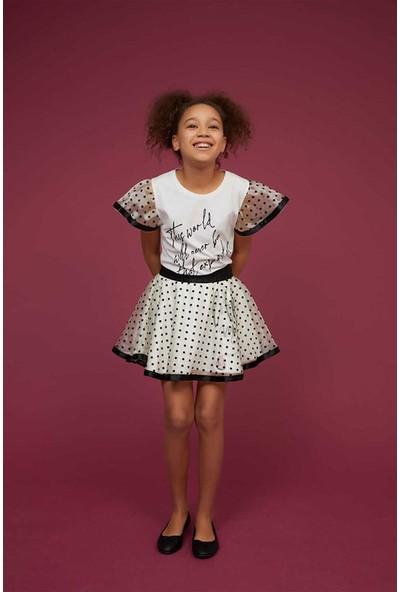 Littlestar Kız Çocuk Puantiyeli Tül Etek
