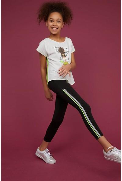 Littlestar Kız Çocuk Neon Şeritli Micro Tayt
