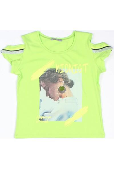 Littlestar Kız Çocuk Neon Şeritli T-Shirt