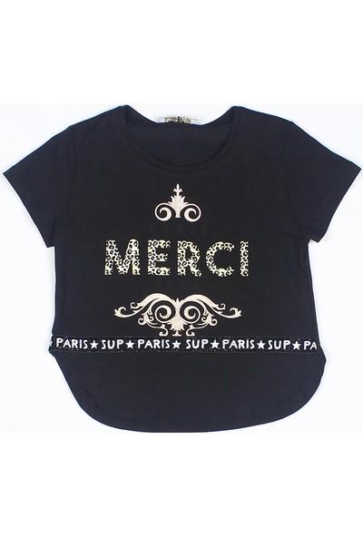 Littlestar Kız Çocuk Arkası Uzun Salash Baskılı T-Shirt