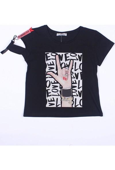 Littlestar Kız Çocuk Rock Temalı T-Shirt