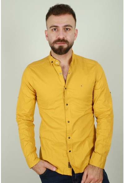 Z Giyim Erkek Çıtçıt Düğmeli Spor Pamuklu Gömlek