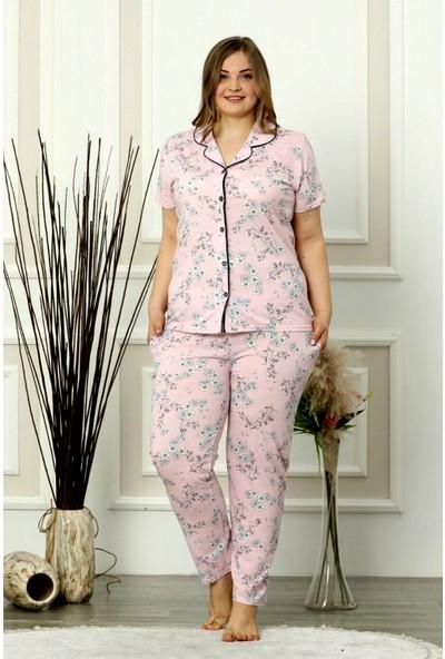 Snc Kadın Retro Biyeli Büyük Beden Pijama Takımı Anneler Günü Serisi