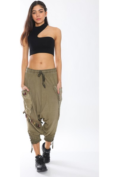 Alışveriş Sokağı Yazlık Rahat Tasarım Kadın Şalvar Pantolon
