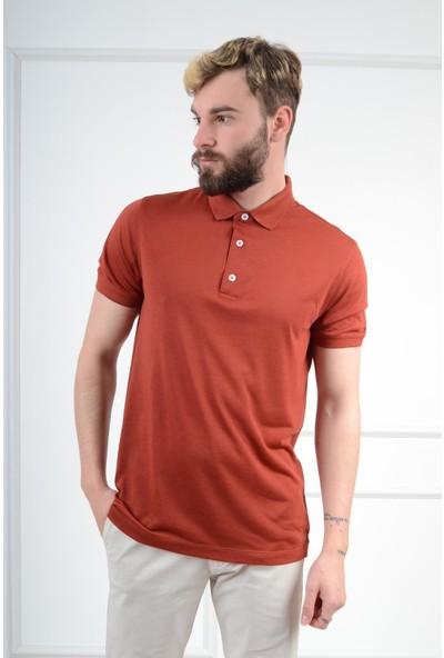 Luppo Club Polo Yaka Slim Fit Kiremit Erkek T-Shirt Xxl