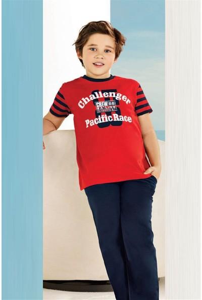 Güryıldız Erkek Çocuk Pamuklu Kısa Kollu Penye Pijama Takım 6720