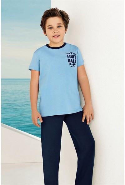 Güryıldız Penye Kısa Kollu Erkek Çocuk Pijama Takımı 6736