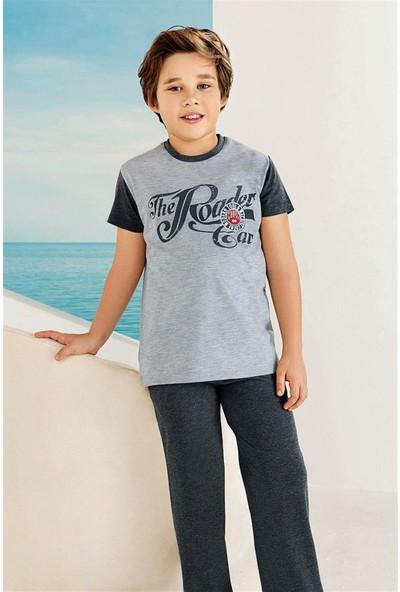Güryıldız Penye Kısa Kollu Pamuklu Erkek Çocuk Pijama Takım 6722