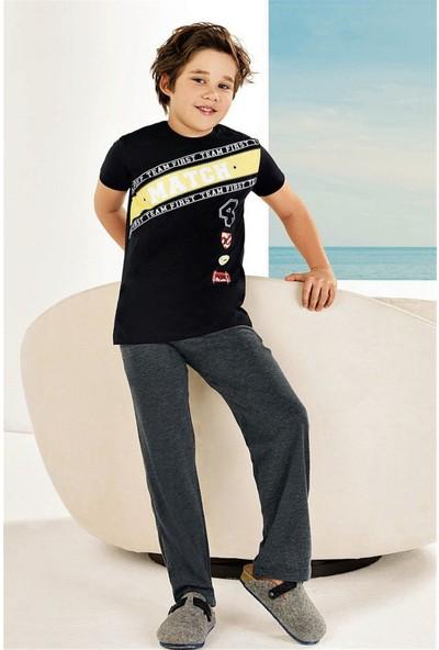 Güryıldız Penye Kısa Kollu Pamuklu Erkek Çocuk Pijama Takım 6732