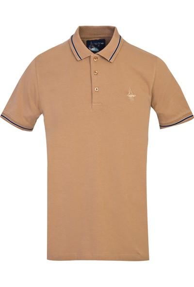 Kiğılı Polo Yaka Düz Slimfit T-Shirt