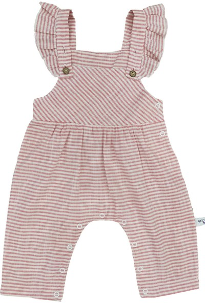 Veo Baby Çizgili Düğmeli Kız Bebek Slopet