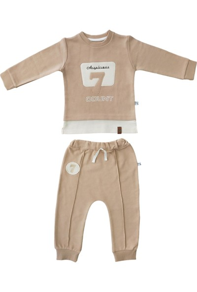 Veo Baby 7 Numara İşlemeli Erkek Bebek & Çocuk Takım