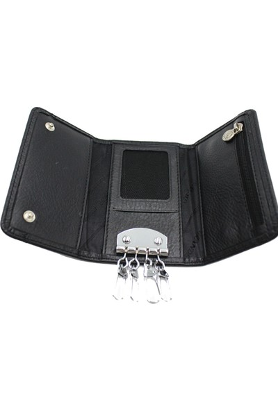 Grande 603 Deri Anahtarlık Siyah