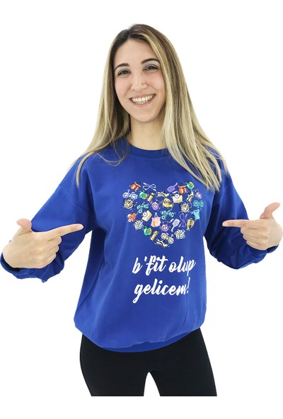 B-Fit Olup Geleceğim Yazılı Sweatshirt