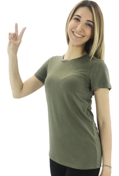 B-Fit Basic Kadın T-Shirt Bisiklet Yaka