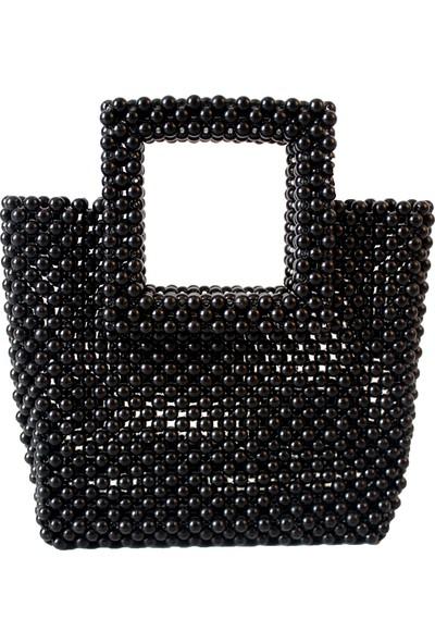 Hello Aisha - Miami Boncuk Çanta Siyah