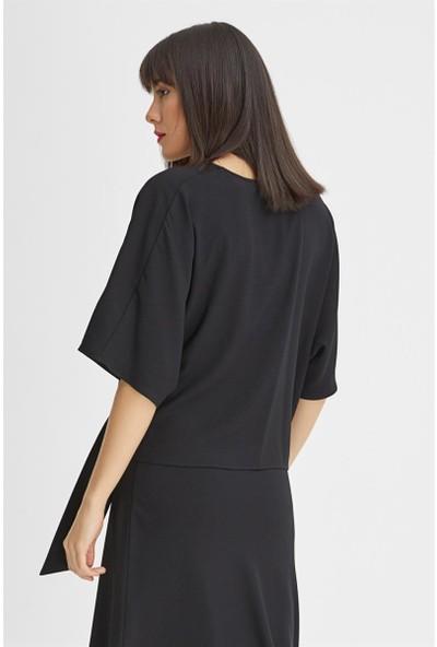 Gusto Anvelop Kesim Bluz - Siyah