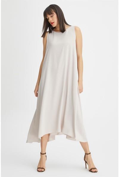Gusto Arkası Bağcıklı Elbise - Taş