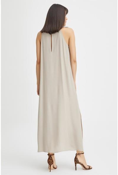 Gusto Askılı Uzun Elbise - Taş