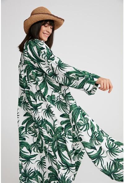 Gusto GUsto Plaj Kimono Yeşil