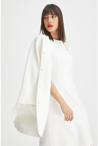 Gusto Kolsuz Jile Elbise - Beyaz