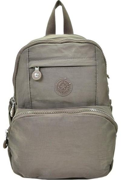 Smart Bags Krinkıl Kumaş Kahve Kadın Sırt Çantası 1083