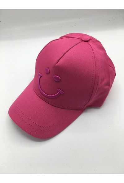 Gonca Şapka Çocuk Ayarlanabilir Nakışlı Şapka Fuşya